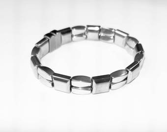 High Gauss Magnetic Therapy Silver Bracelet