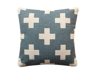 "18""x18"" Pillow Cover Vintage Cross Scandinavian Minimalist Swiss Cross Cushion Cover Throw Cushion Cover 229"