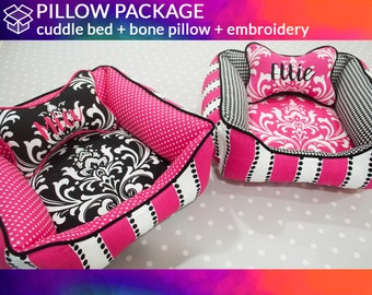 Design Your Own Dog Bed & Pillow with Personalization  |  Dog Bone Pillow, Heart Pillow | Washable, Design Your Own
