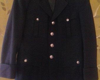 Military style navy jacket