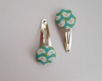 Pair of pretty bird hairclips