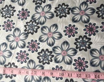 Flower Flannel HALF YARD