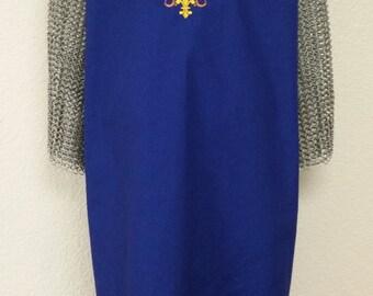 Medieval Crusader Renaissance Knight Surcoat Tabard Tunic Unicorn Shield NEW
