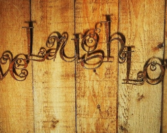 Live Laugh Love, Metal Word Art for Indoors or Outoors