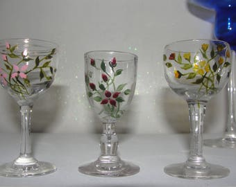 PAINTING on glass glasses collection