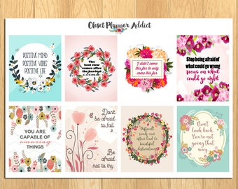 Motivational & Inspirational Quotes Planner Stickers (MS-015)