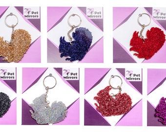 Glitter acrylic Squirrel keyring/bag charm - 9 colour choices