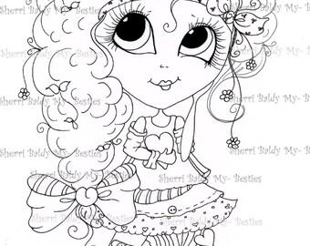 INSTANT DOWNLOAD Digital Digi Stamps Big Eye Big Head Dolls Digi IMG4582 Bestie Tudes By Sherri Baldy