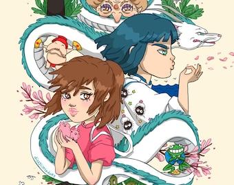 A4 Spirited Away Print [Studio Ghibli]