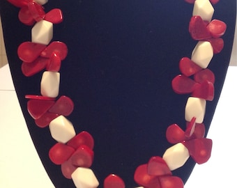 Strawberry Necklace with Cream