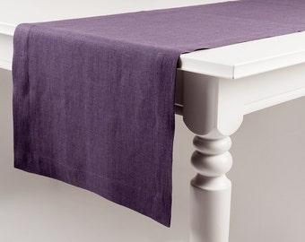 Violet table runner, Violet linen table runner, Pure linen table runners, Soft linen table runner, Custom table runner