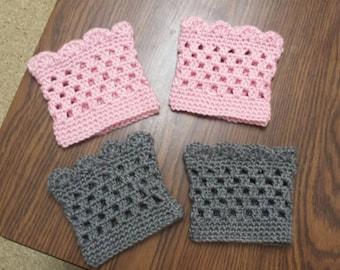 Boot cuffs - Crochet