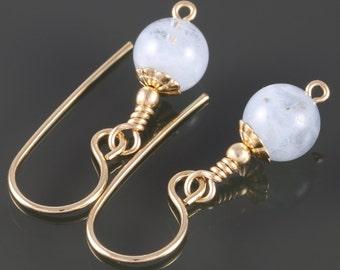 Genuine Aquamarine Earrings. Gold Filled Ear Wires. March Birthstone. f16e128