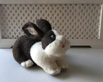 Dutch Bunny needle felted sculpture