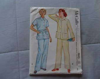 Vintage 1953 Pajama Pattern* UNcut . McCall's 9655 . Size 18 Bust 36 . Never Used .