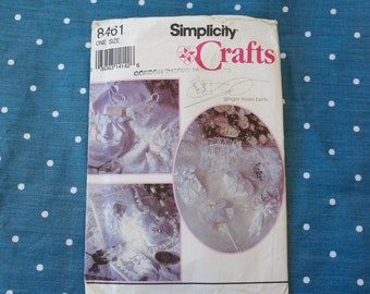 Vintage, 1993, Simplicity, Crafts, Bridal Accessories, Pattern, Wedding, Bride, Garter, Hanger Cover, Ring Pillow, Rice Holders And Extras