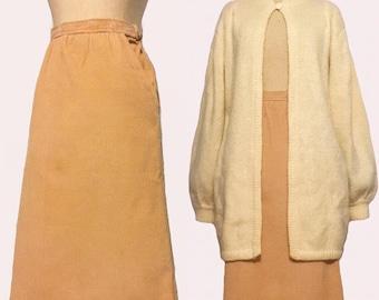 Vintage Camel Corduroy Skirt
