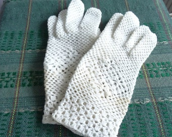 White Gloves Crocheted Gloves Gloves Handmade With Article Free Time Accessories