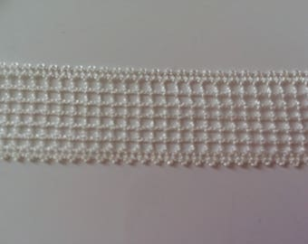 Hand-made tape lace 2 cm wide beige print