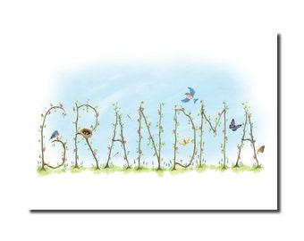 Grandma Print - Garden Vine Print