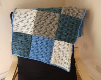 Warm crochet baby blanket