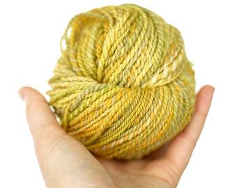 "SALE ITEM - Handspun Yarn - ""Buttercup Field"" - Merino Wool Yarn - Worsted Yarn - Felicity Yarn"