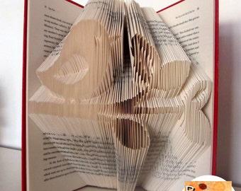 Bird on Branch Folded Book Art Pattern