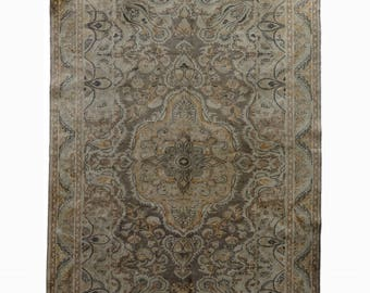Oushak Area Rug Turkish Decorative Area Rug FREE SHIPPING! / 6'2''x9'7''ft