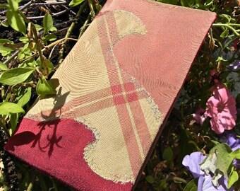 Checkbook - high heel - silk