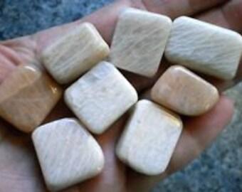 Peach Moonstones - Tumbled Gemstone Crystal