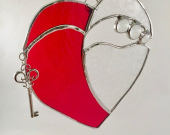 Stained Glass Heart Suncatcher - Stained Glass Heart - Heart Suncatcher - Heart - Valentine's Day - Mother's Day