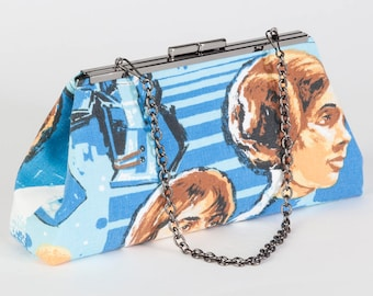"Sherlock's Clutch ""I love you. I know"" Vintage Star Wars Bedsheets - Valentine's Day Romantic Geek Nerd Han Solo Leia Fangirl Purse"