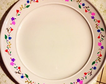 Custom, hand written and dishwasher safe plate!