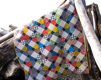 Stepping Stones Quilt Pattern PDF- Instant Download, Modern Quilt