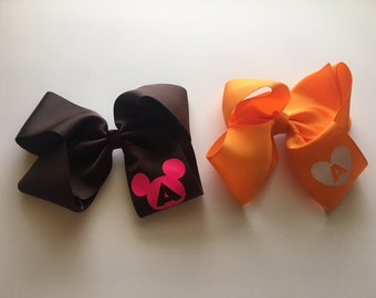 Hair Bows with Monogram