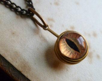 Spherical Eye Pendant - Lynx, Small