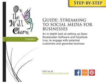 E-Book - Streaming to Social Media for Businesses - Step by Step Guide - Tutorial