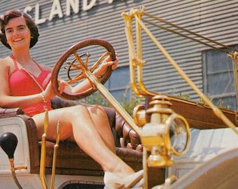 Antique Auto Museum parade  Long Island Auto Museum     about 1960  (chrome unused)
