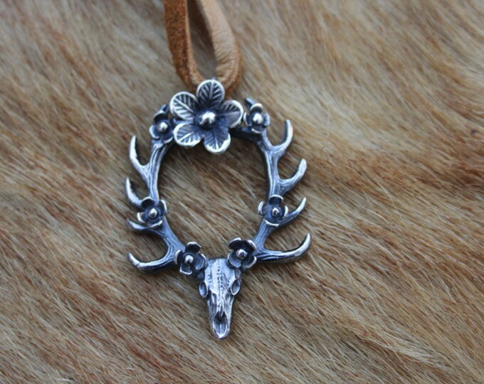 Floral Deerly Departed Necklace