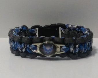 U.S. Air Force paracord bracelet. Air Force bracelets. 550 paracord susrvival bracelets.