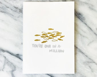 You're One in a Million, Valentine/Just Because Card