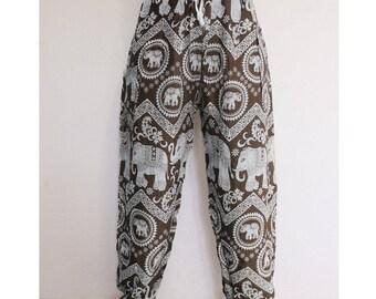 Thai harem pants Brown - Lapin.DIY