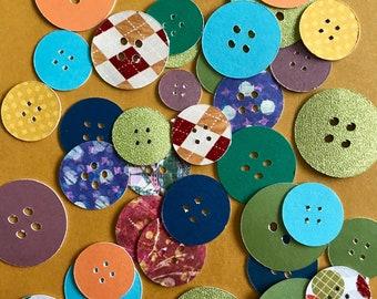30 Paper Button Embellishment