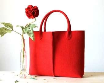 Elegant and Casual Felt Bag from Italy, Tote Bag, Felted bag, Market Bag, Felt Tote, Gift For Her, Christmas Gift For Her