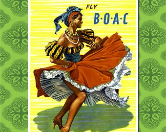 Caribbean Travel Poster Wall Decor (7 print sizes available)