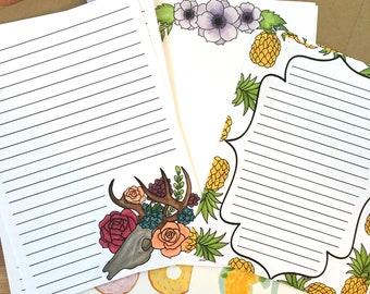 Stationery letter set sampler