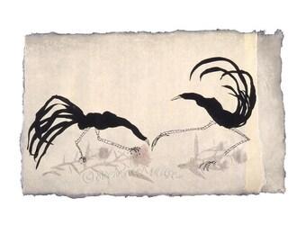 "Rob's Birds - 8.5""  x 11"" signed digital Giclee print from original artwork"