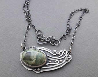 Forest Jasper Stone Necklace