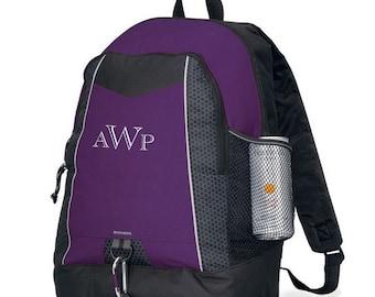 School backpack, personalized, carryall, tote, shoulder bag, gym bag, sport bag, book bag