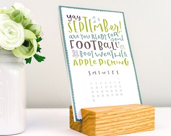 stocking stuffer - 2018 type calendar (without stand)
